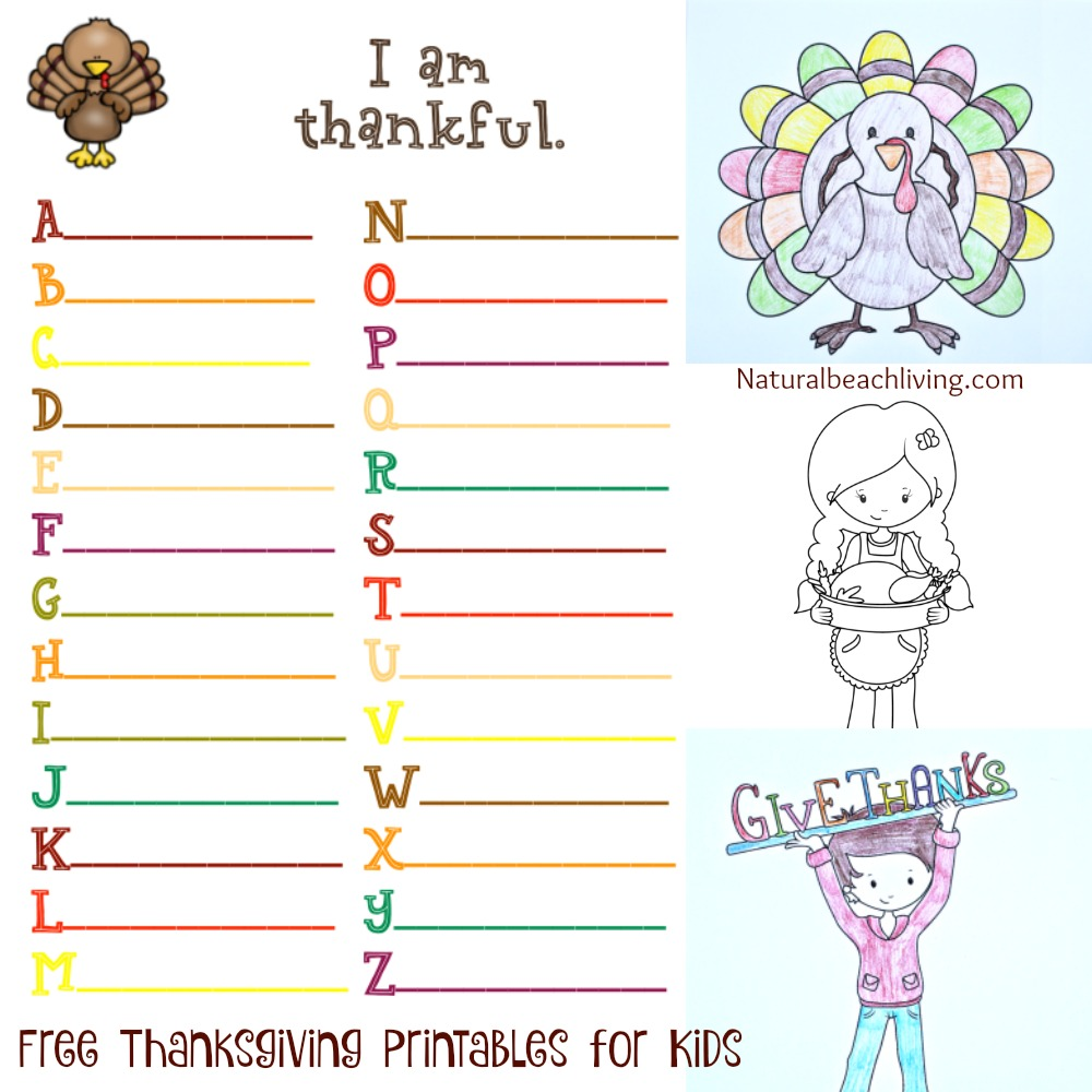 5 Fun Filled Thankful Thanksgiving Printables for kids Natural – I Am Thankful for Worksheets