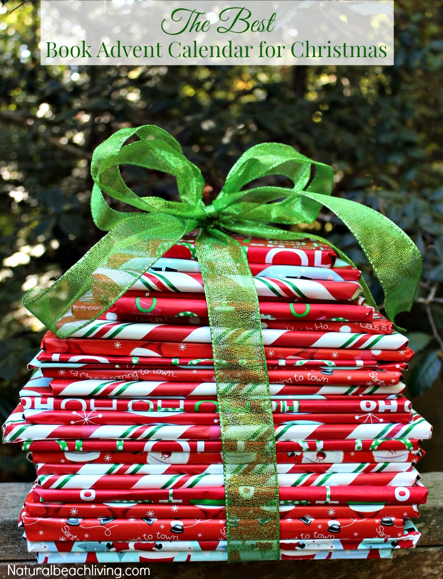 The Best Book Advent Calendar for Christmas, Wrap 25 books for a wonderful countdown to Christmas idea, Family traditions, growing readers, and Great Books