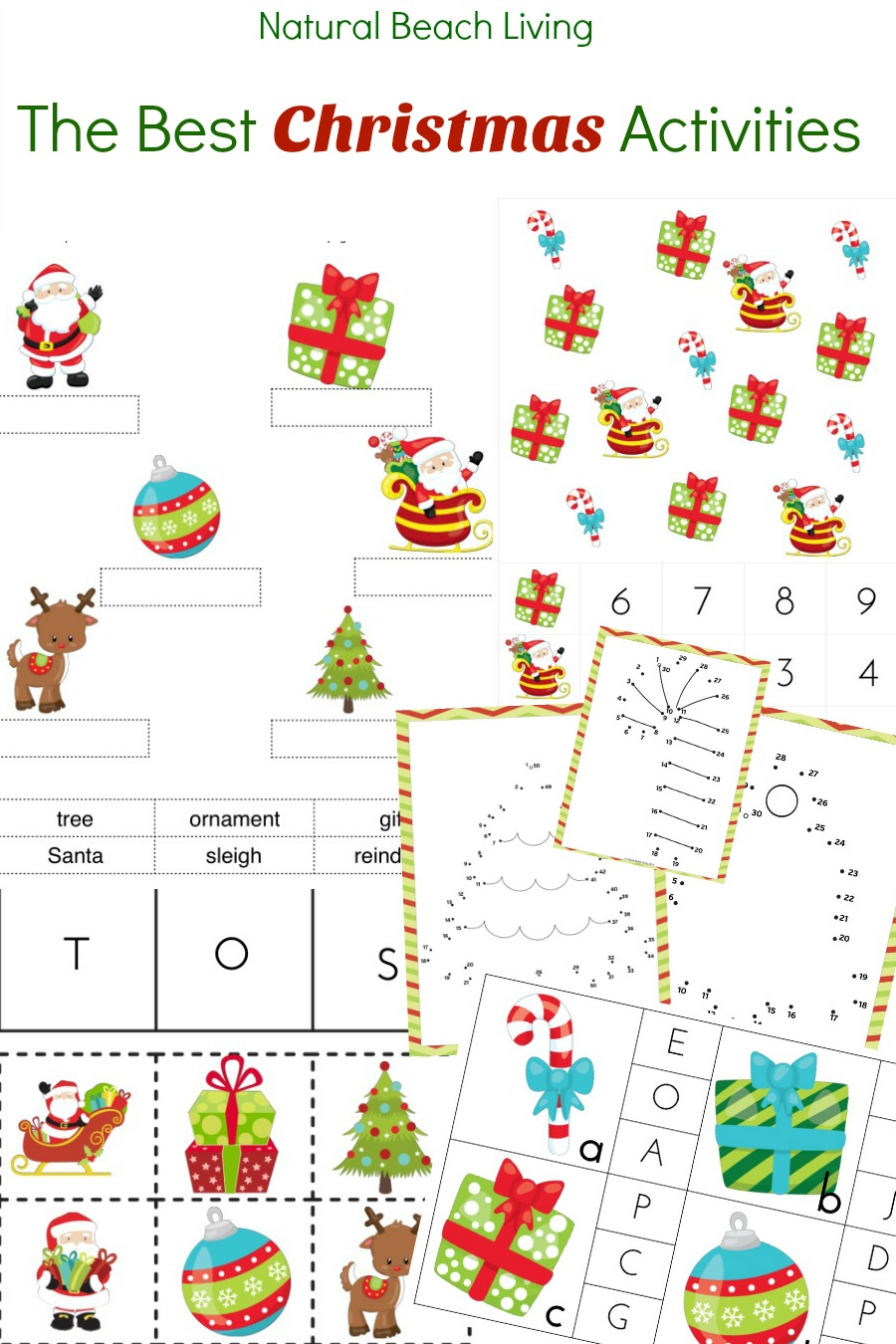 Best Christmas Activities printables, Christmas activities for kids, Hands on activities, Math, Coloring Pages, Playdough Mats, Winter Scavenger Hunt, Holiday