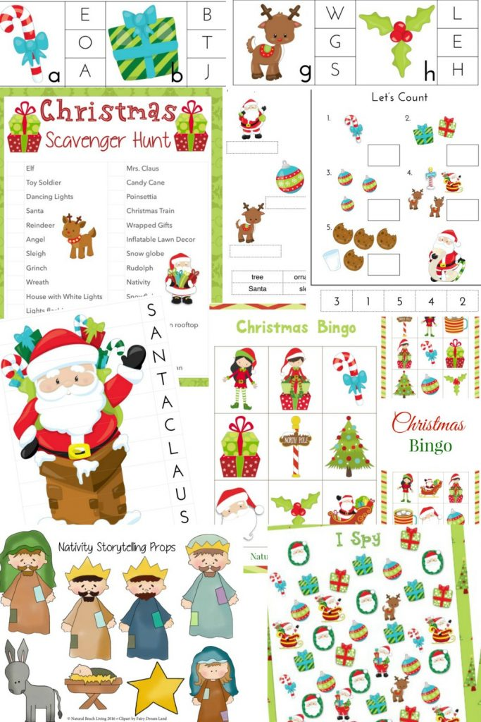 The Best Christmas-kids-pack, games, bingo, alphabet, Puzzles, Nativity, I Spy, Holiday Scavenger hunt and more