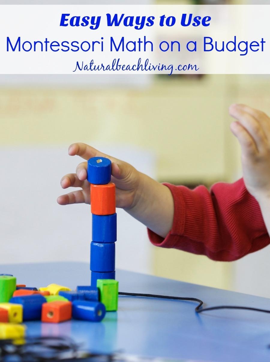 Easy Ways to Use Montessori Math on a Budget