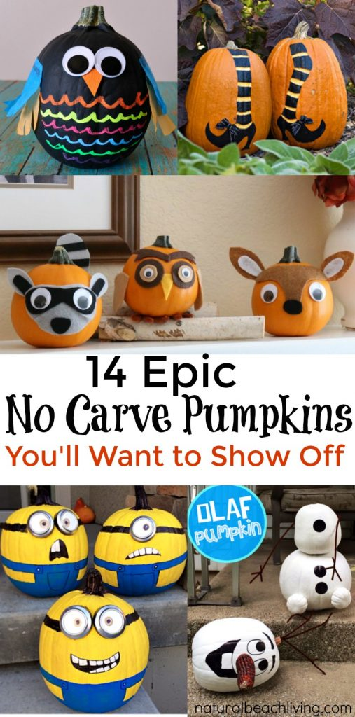 no-carve-pumpkins, The Ultimate Halloween Party Ideas for the Family, Halloween food, Halloween crafts, Halloween games, Recipes, Pumpkin decorating, family fun