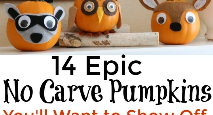 14 Epic No Carve Pumpkins You'll Want to Show Off