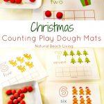 Cute Christmas Counting Play Dough Mats