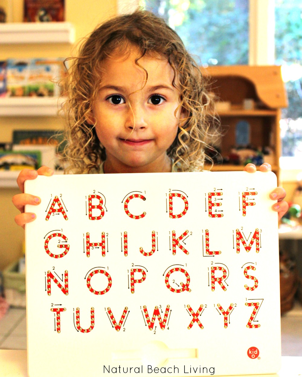 The Magnatab Magnetic Writing Tablet for Preschoolers, Timberdoodle curriculum for preschool, Alphabet activities and learning tools, Preschool at home.