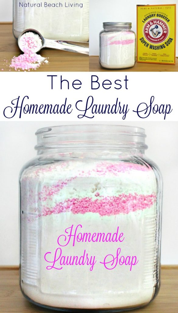 THE BEST Natural Homemade Laundry Soap, super affordable, extremely gentle on sensitive skin, HE washer safe, Easy to Make, Natural DIY Laundry Detergent