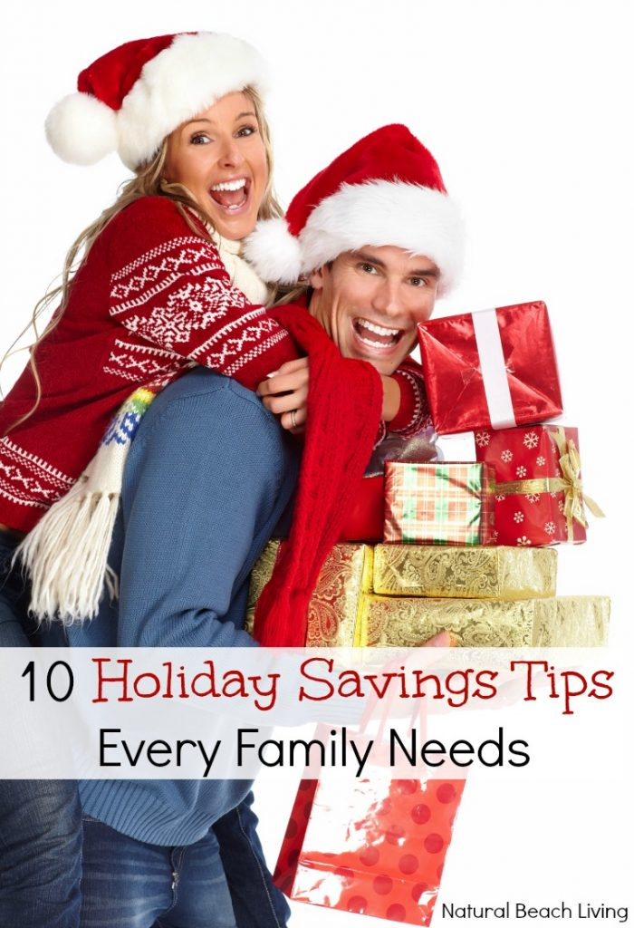 10 Holiday Savings Tips Every Family Needs to Know, Family Budgeting for the holidays and Tips for saving all year, Free Printable, Holiday Shopping List