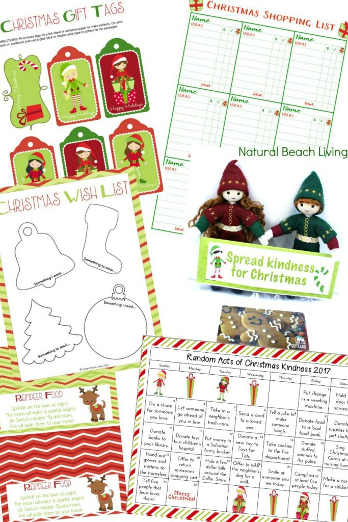 The Best Christmas Planning Pack, Christmas Wish List, Reindeer Food Labels, Gift Tags, Kindness Elf Gift ideas and Advent Calendar, Holiday Organization