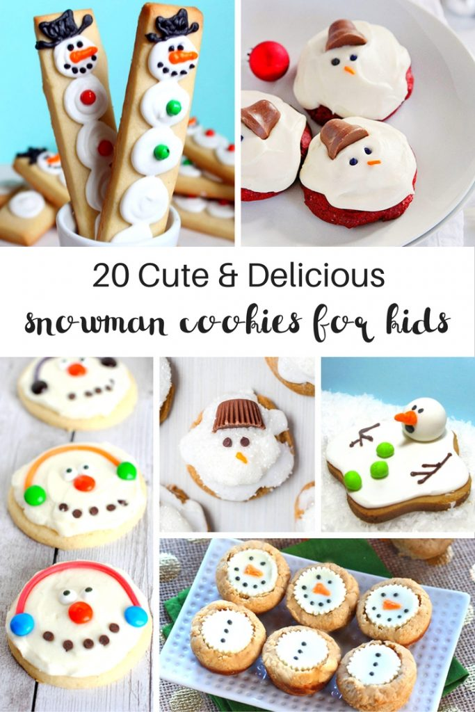 20 Amazing Snowman Cookies Your Kids Will Love, delicious dessert for a fun winter theme, Adorable cookies for kids, Christmas cookies, Snowmen Cupcakes YUM