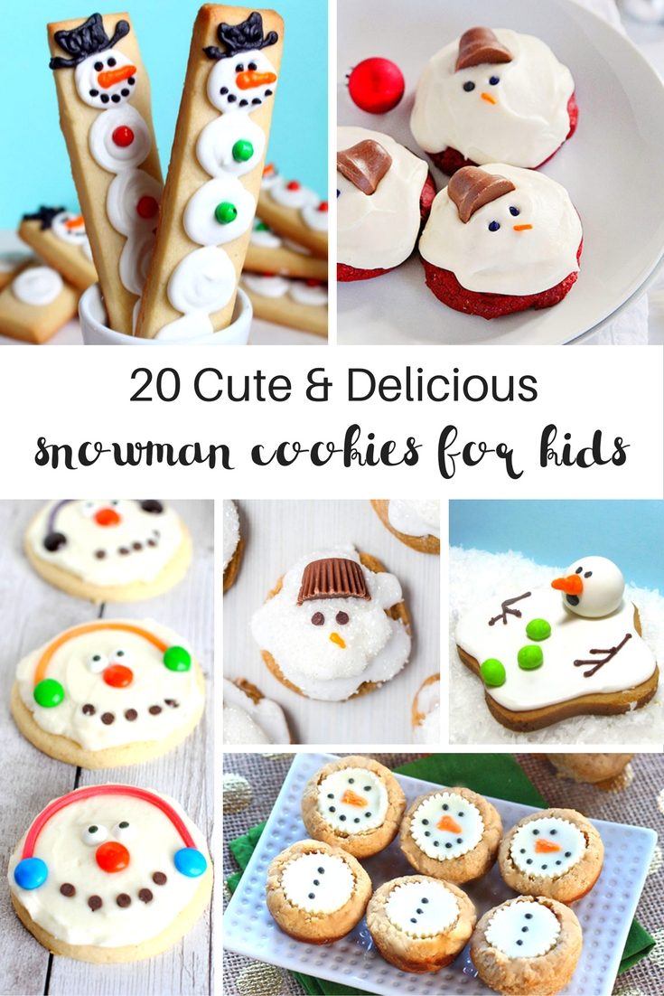 20+ Amazing Snowman Cookies Kids Will Love