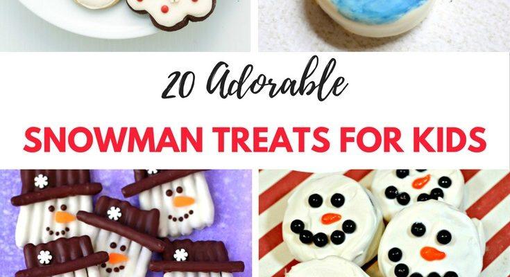 40 Adorable Snowman Treats for Kids