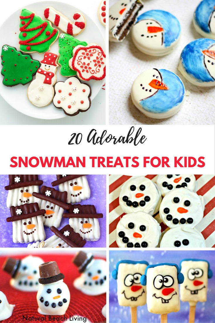 40 Adorable Snowman Treats for Kids