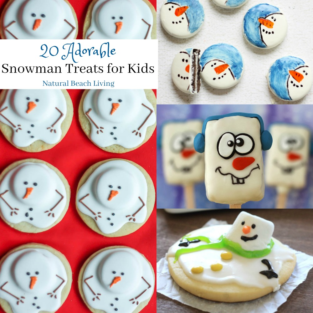 20 Adorable and Delicious Snowman Treats for kids, Cookies, Perfect Winter snacks for kids, Yummy Snowman desserts, Perfect for Winter Party Food for Kids