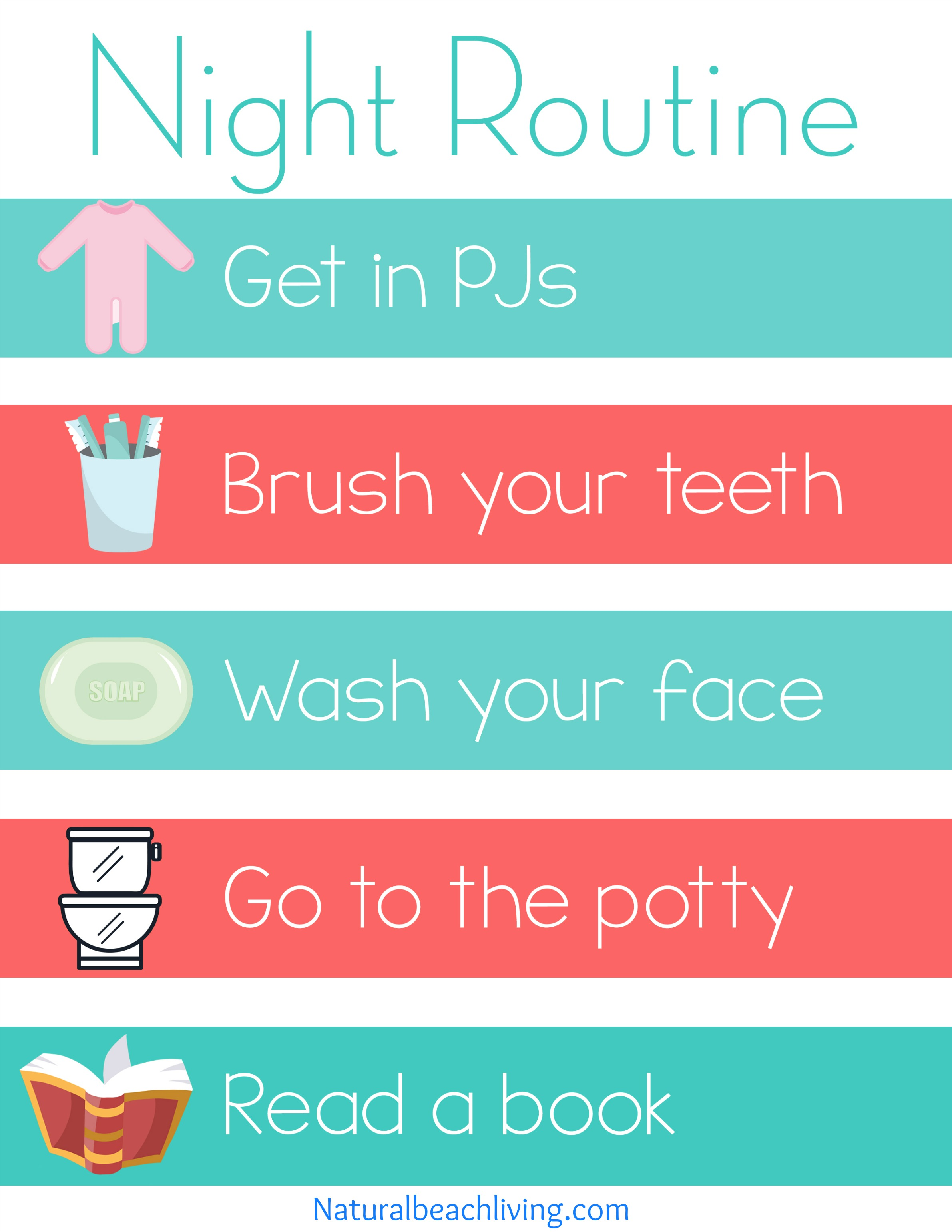 Home Visual Schedule Printables for Morning and Night Routine, Perfect Visual Schedule Printables for Kids, Special needs & Autism charts, Free Home Routine