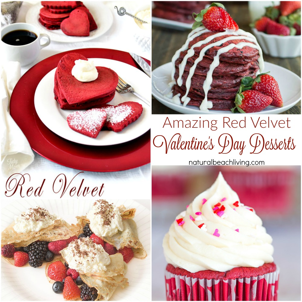 20+ Amazing Red Velvet Valentine's Day Desserts, Delicious Red Velvet Cake, Red Velvet Cupcakes, Red Velvet Cookies that will have you wanting 2nds.
