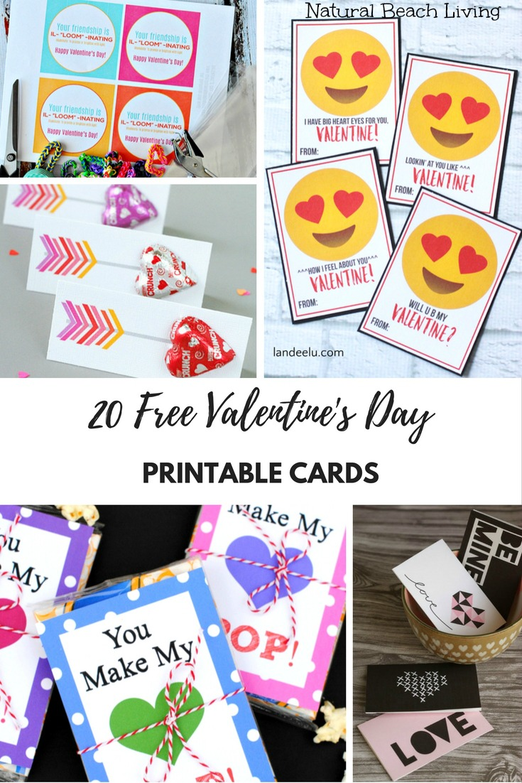 20 Free Valentine's Day Printable Cards That Make Everyone Happy