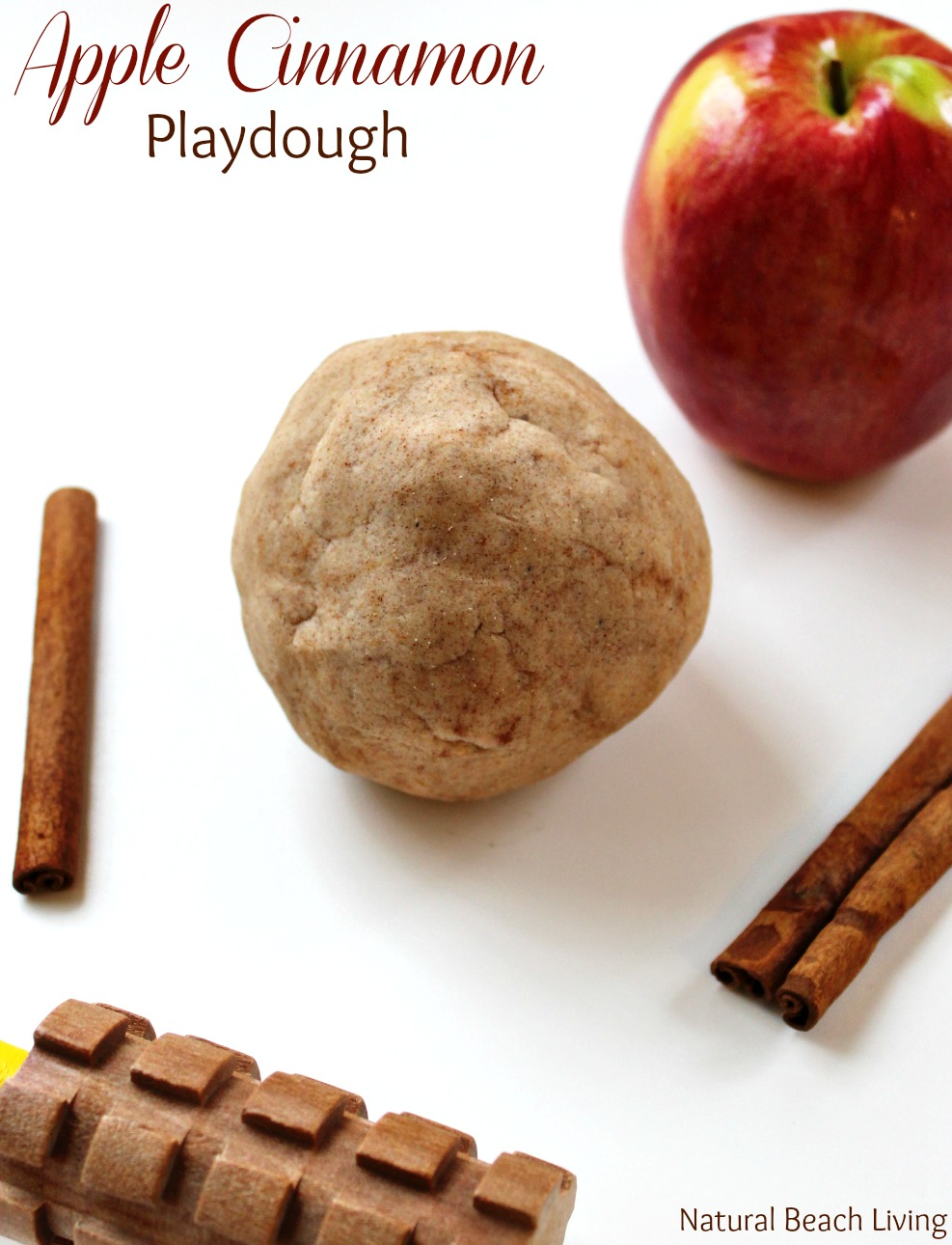 No Cook Natural Apple Cinnamon Playdough Recipe