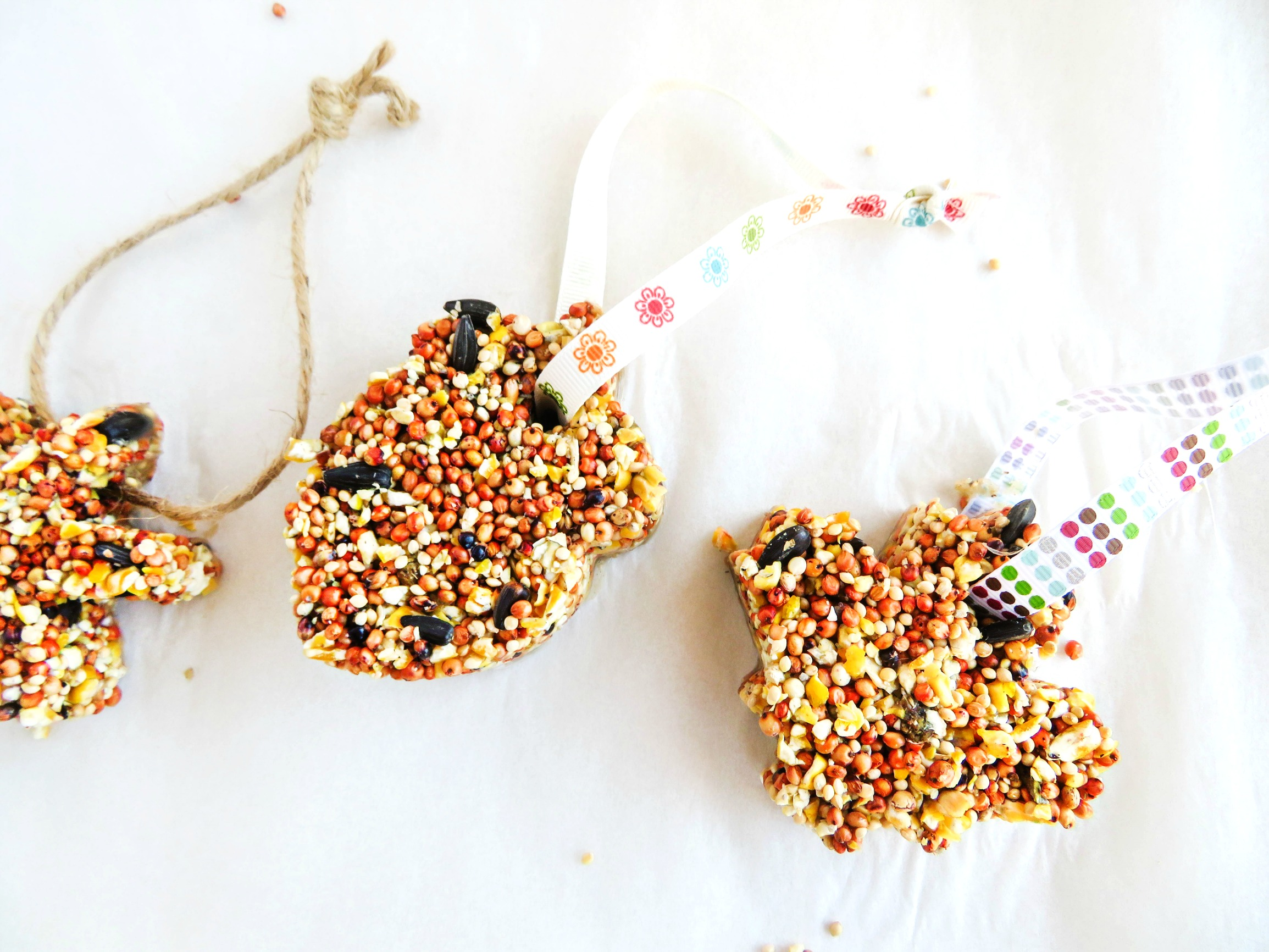 How to Make The Best Birdseed Ornaments, Homemade Birdseed treats make the perfect family activity, DIY Bird feeders are a great craft for kids