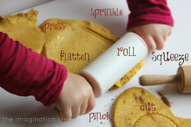 cinnamon playdough finemotorwords, 20 Super Creative Sensory Activities with Cinnamon, Amazing Cinnamon Playdough, Apple Pie play dough recipe, benefits of cinnamon sensory activities & MORE
