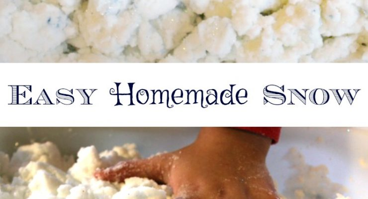 Easy to Make Homemade Snow Dough