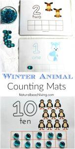 Winter Animal Printable Number Playdough Mats
