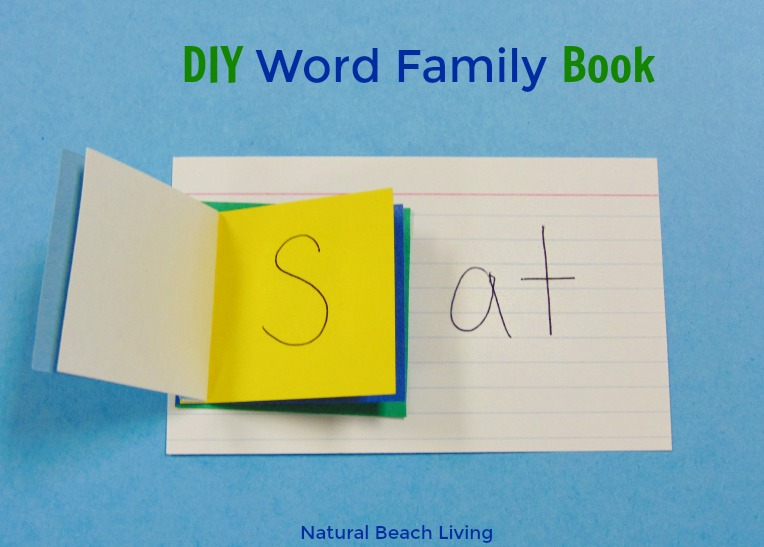 Easy No Cost DIY Word Family Activities Book