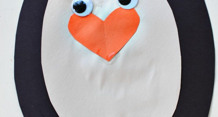 Adorable Penguin Craft Preschool Activity