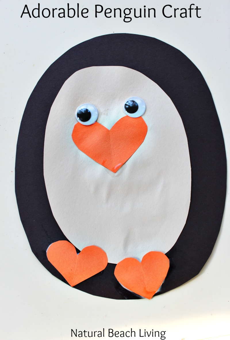 Adorable Penguin Craft Preschool Activity, Penguin Theme Unit, Penguin Crafts, Fine motor skills, This little penguin is so cute everyone will love it.