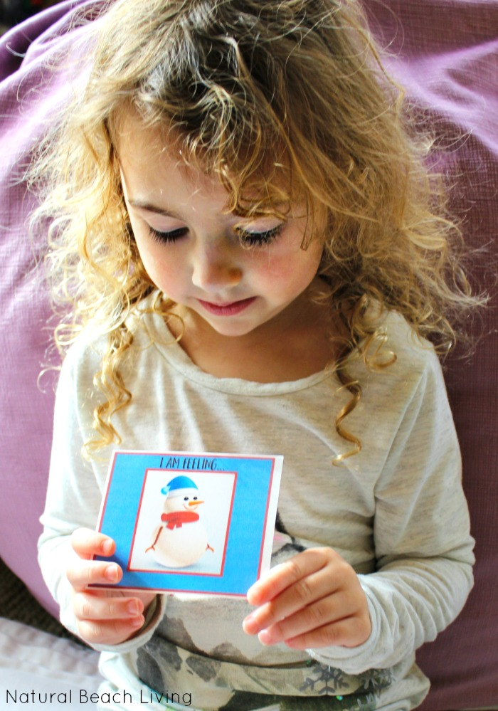Adorable Snowman Emotions Printables for Preschoolers, Preschool theme emotions and feelings using snowman printable cards. A Great Winter Activity
