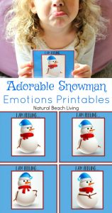Adorable Snowman Emotions Printables for Preschoolers