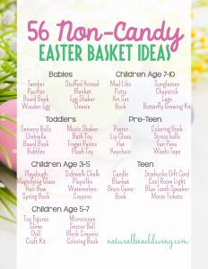 56 Non-Candy Easter Basket Ideas for Kids