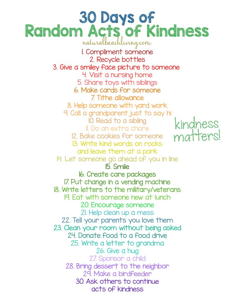 30 days of random acts of kindness, 30+ Random Acts of Kindness for Kids, Random Acts of Kindness ideas, list of random acts of kindness, Random Acts of Kindness Kids, Random Acts of Kindness Classroom, RAOK, RAK #randomactsofkindness #raok #actsofkindness