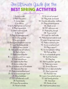 The Ultimate Guide to the Best Spring Activities