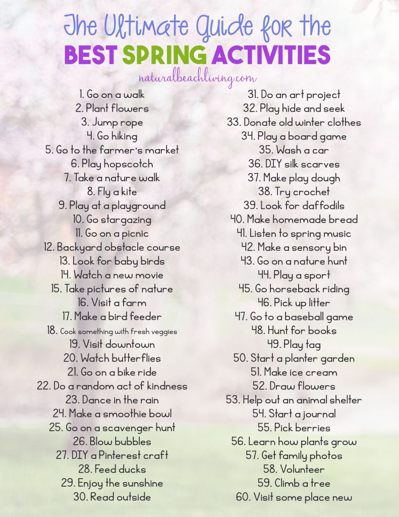 The Ultimate Guide for the Best Spring Activities, Family activities for Spring, fun outdoor activities, Spring Activities for kids, Free Printable
