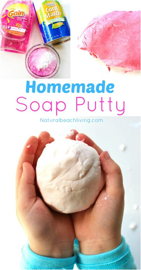 The Coolest Homemade Soap Putty, This DIY Putty is so much fun, 2 ingredients easy to make sensory play for kids, Homemade Soap that's also putty, Perfect!
