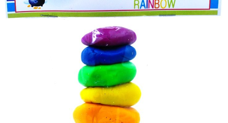Fun Filled Rainbow Playdough St. Patrick's Day Treat Bags