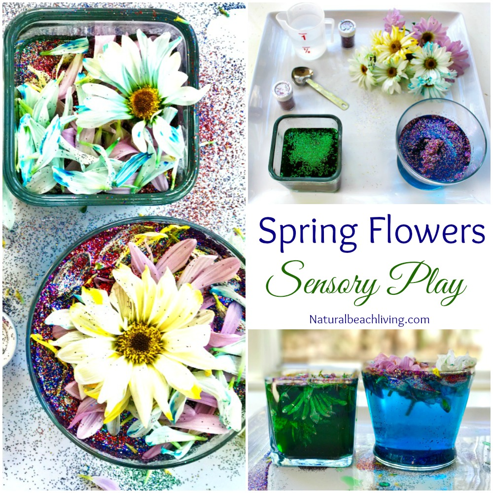 The Most Amazing Spring Flowers Sensory Play and Kindness Activities for kids, Flower activities for kids, Flower sensory bin, Spring activities for kids