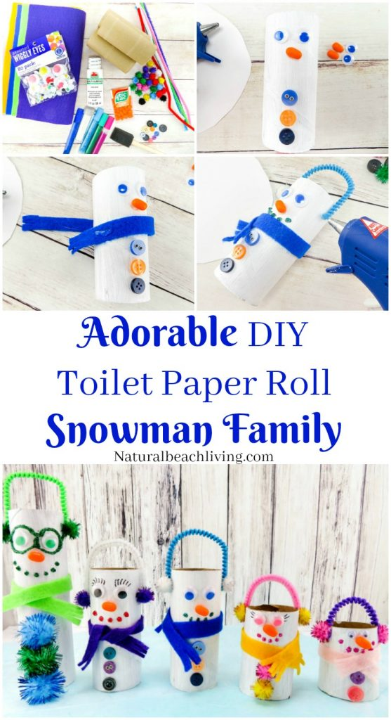 paper roll snowman craft adorable diy toilet paper roll snowman crafts 5131