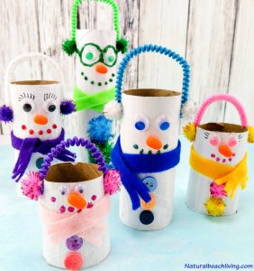 Adorable DIY Toilet Paper Roll Snowman Crafts