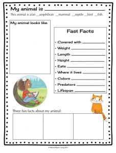 Animal Research for Kids with Zoey and Sassafras (Free Printable)
