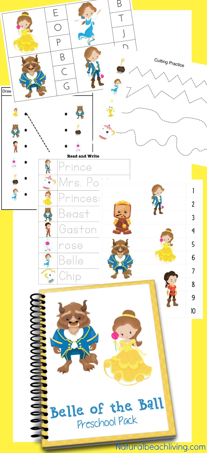 The Perfect Beauty and The Beast Printables for Preschool & Kindergarten