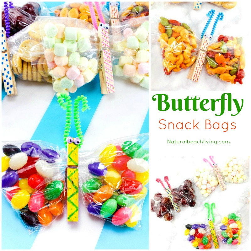 Butterfly Snack Bags - Butterfly crafts