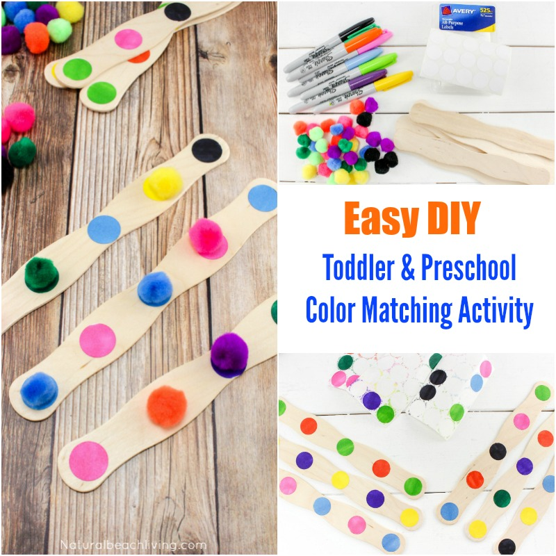 easy diy color activity for preschool and toddler age children toddler color activities fine - Color Activity For Preschool
