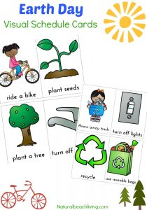 Earth Day Visual Schedule Printable