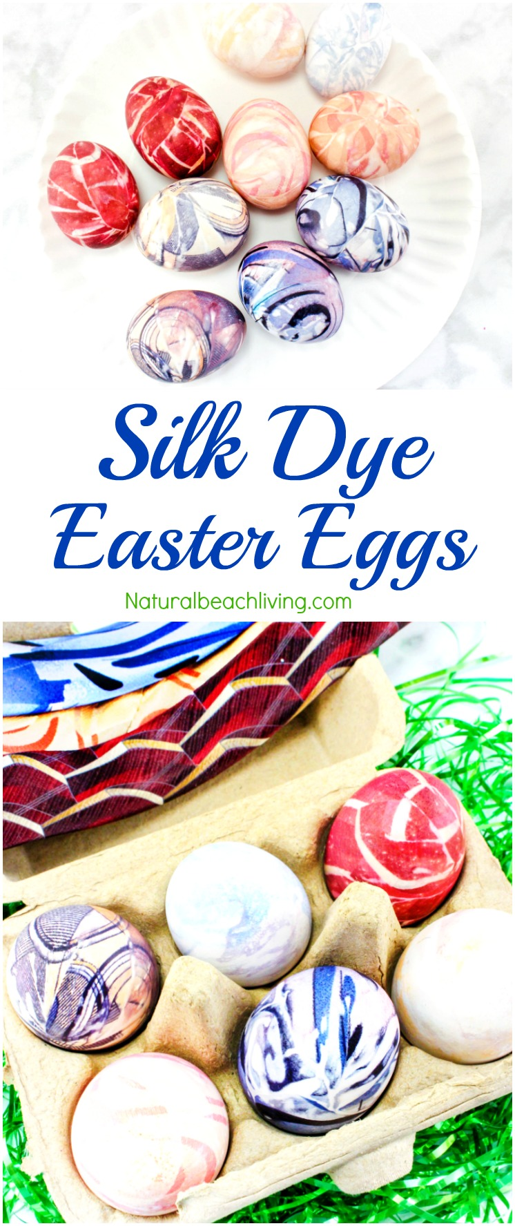 How to Silk Dye Easter Eggs Perfectly, Tie Dye Easter Eggs and creative ways to dye eggs, Easter Crafts for kids, One of a kind Beautiful Silk Dyed Eggs.