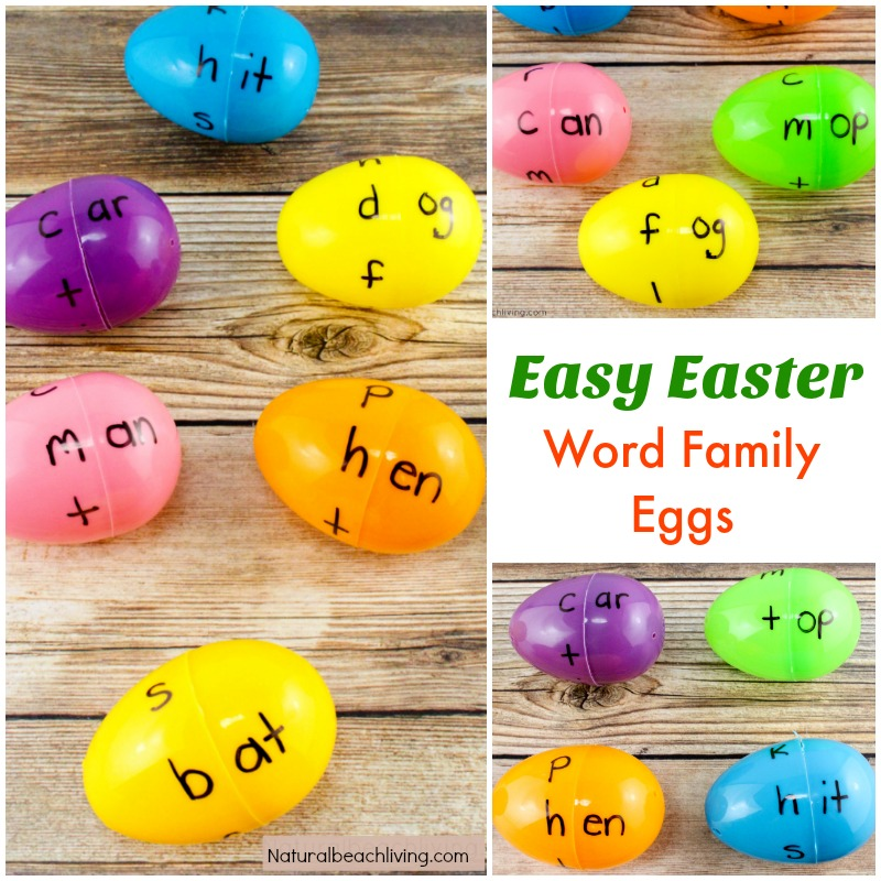 Easter Egg Word Family Activities Kindergarten Children Will Love