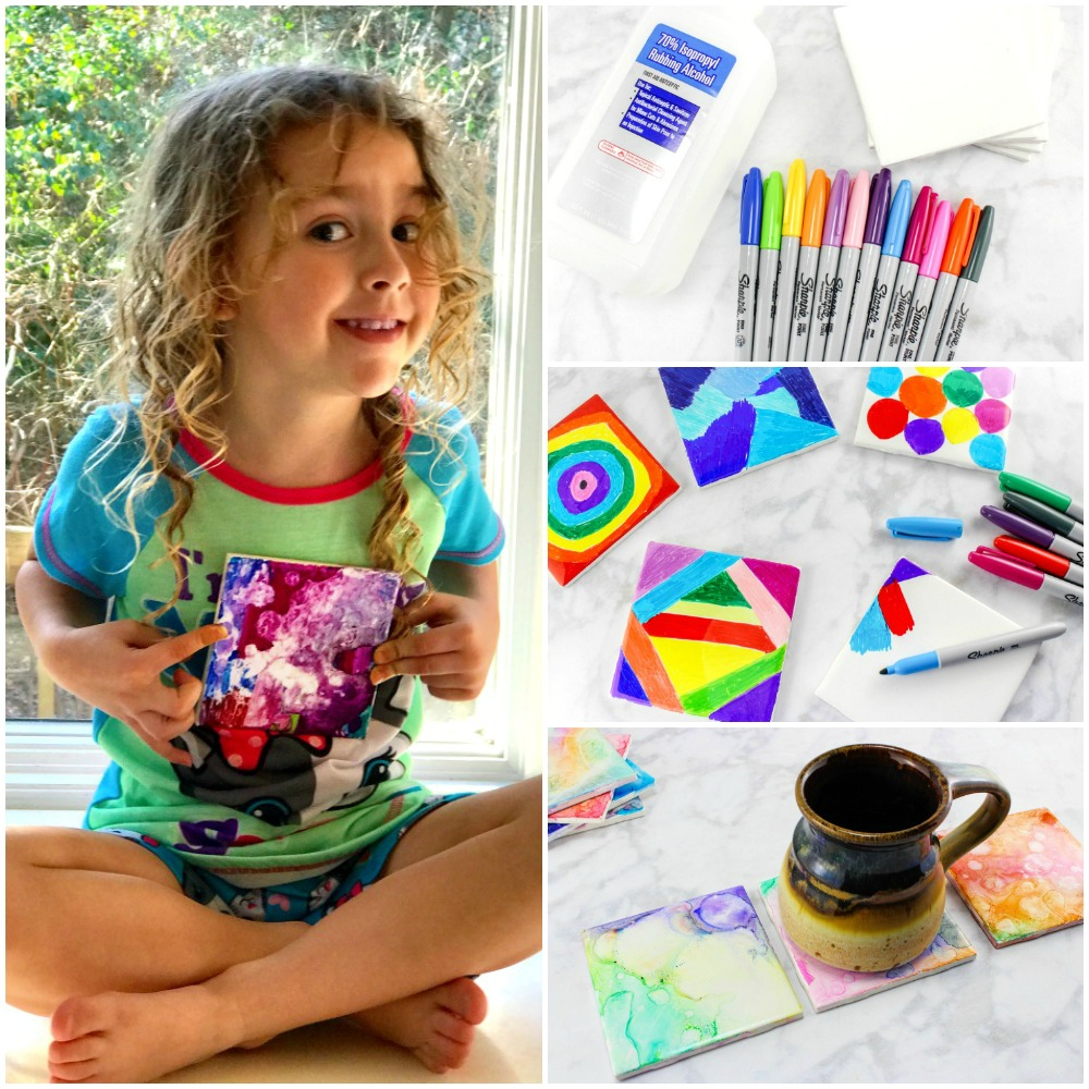 Easy Ceramic Tile Art for Kids