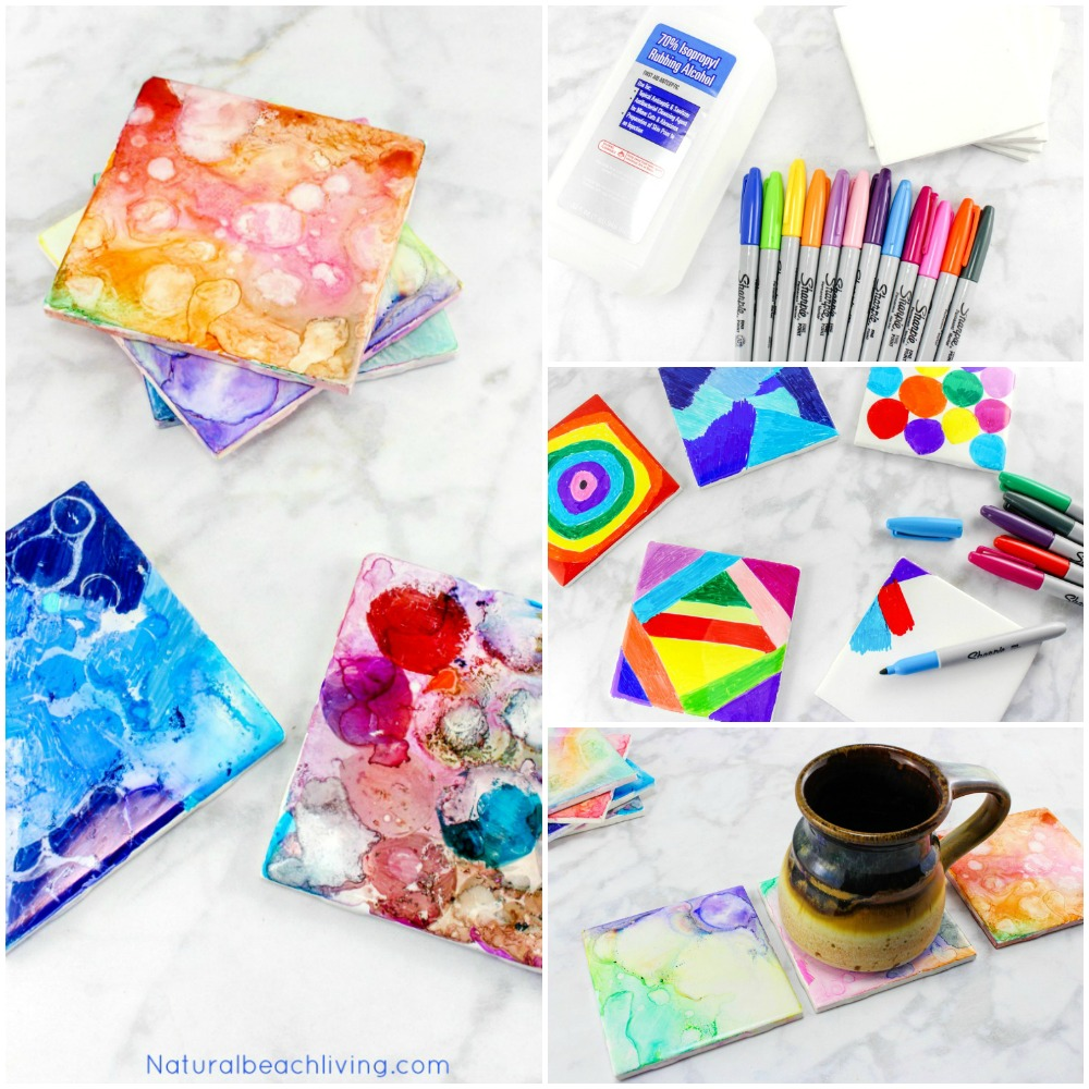 Easy Tile Art For Kids That Everyone Will Enjoy Sharpie Is The Coolest