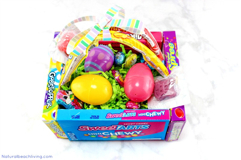 How to make the best diy candy box easter baskets natural beach awesome diy candy box easter baskets diy edible easter egg basket that makes a cool negle Image collections