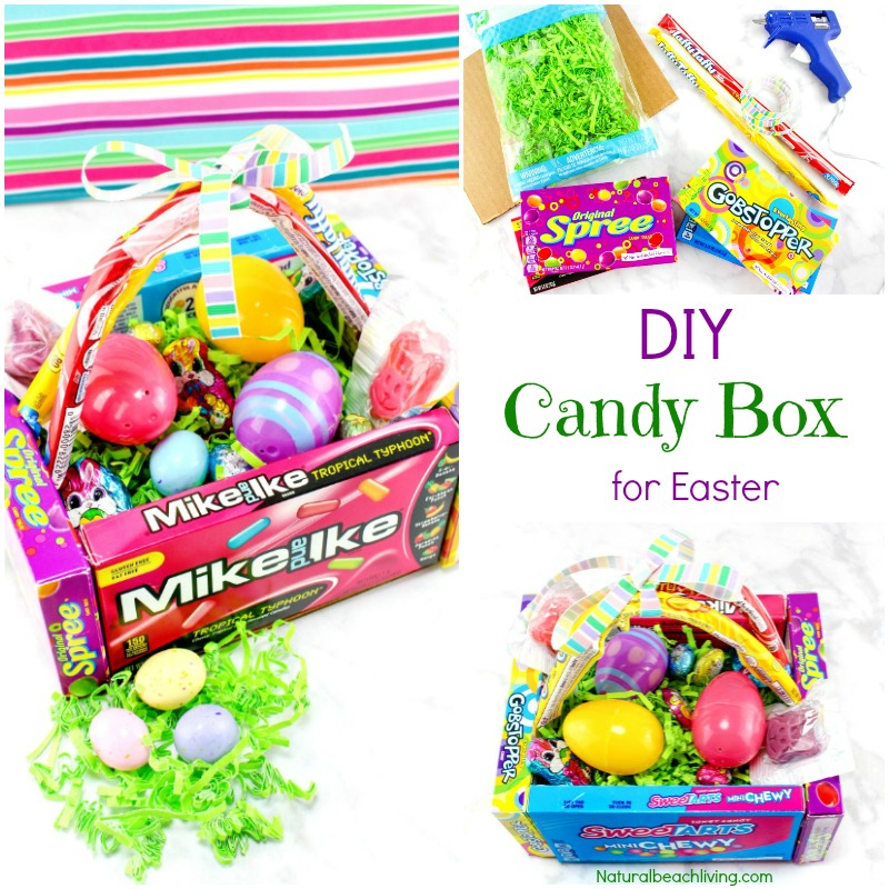 Awesome DIY Candy Box Easter Baskets Edible Egg Basket That Makes A Cool
